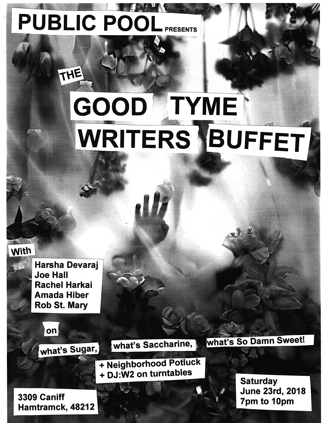 Writers Buffet poster sugar suger